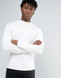 New Look Turtleneck Top In White Cream