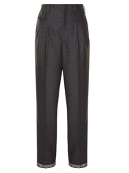 Golden Goose Sally High Rise Relaxed Trousers Grey