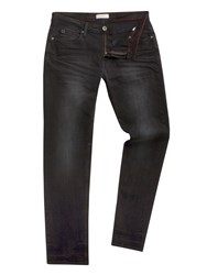 Racing Green Marr Slim Fit Black Jean
