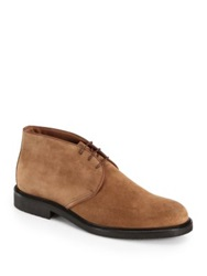 Saks Fifth Avenue Suede Chukka Boots Navy Brown