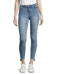 Noisy May Ankle Uneven Jeans Light Blue