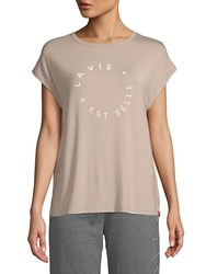 X By Gottex Round Jersey Top Nude