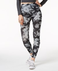 First Looks Floral Tonal Seamless Leggings Black
