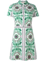 Tory Burch Garden Party Shirt Dress Women Cotton Spandex Elastane 8 White