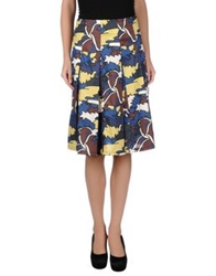 Laura Urbinati Knee Length Skirts Blue
