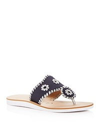 Jack Rogers Captiva Demi Wedge Thong Sandals Midnight Silver