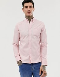 D Struct Oxford Long Sleeve Shirt Pink