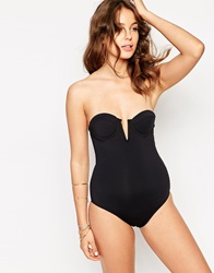 Pistol Panties Evelyn Swimsuit With Plunge Matteblack