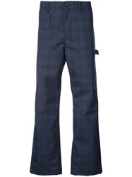 Junya Watanabe Comme Des Garcons Man Carhart Check Trousers Blue