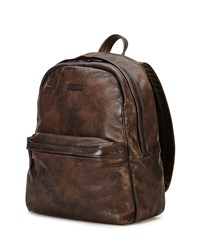 Tyler Rugged Leather Backpack Gray Grey Frye