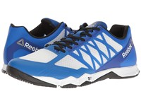 Reebok Crossfit Speed Tr White Black Awesome Blue Pewter Men's Cross Training Shoes