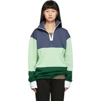 Acne Studios Navy Flint Flag Face Half Zip Sweatshirt