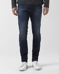 Diesel Indigo Blue Faded Tepphar Slim Cut Jeans