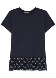Markus Lupfer Navy Bee Print Cotton T Shirt