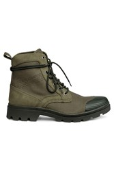 Handm Chunky Soled Boots Green