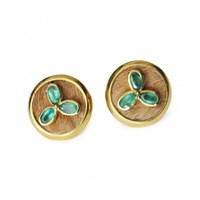 Isabel Englebert Emerald Clover Cufflinks