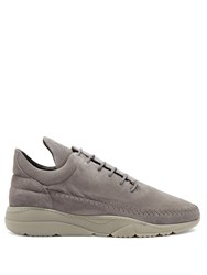 Filling Pieces Apache Runner Low Top Leather Trainers Grey