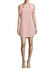 Amanda Uprichard Claudette Ruffled High Low Dress Dusty Rose