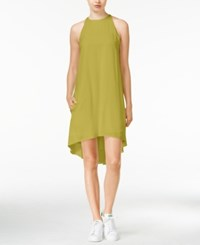 Rachel Rachel Roy High Low Trapeze Dress Green Olive