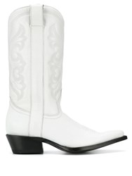 Ash Amazone Embroidered Boots White