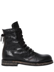 Ann Demeulemeester 20Mm Washed Leather Ankle Boots