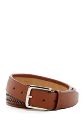 Cole Haan Santa Croce Woven Leather Belt Beige