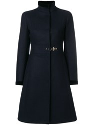 Fay Single Breasted Coat Cotton Acrylic Polyamide Virgin Wool Xl Blue