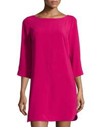 Laundry By Shelli Segal Boat Neck Shift Dress Pink Fizz