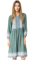 Sea Sabine Popover Dress Green