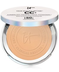 It Cosmetics Your Skin But Better Cc Airbrush Perfecting Powder Spf 50 Tan