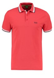 Hugo Boss Green Paddy Polo Shirt Open Red