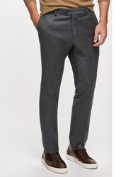 Jigsaw Italian Flannel Slim Fit Suit Trousers Grey