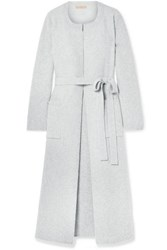 Brock Collection Koffi Ribbed Wool And Cashmere Blend Coat Light Gray