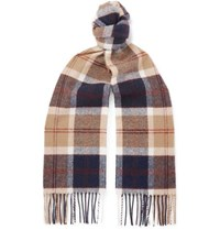 Norse Projects Johnstons Of Elgin Fringed Checked Wool Scarf