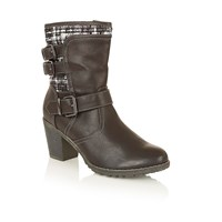 Lotus Hedera Ankle Boots Black