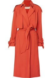 Michael Michael Kors Belted Cady Trench Coat Brick