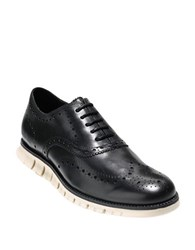 Cole Haan Zerogrand Wing Loafers Black White