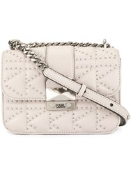 e104f6ed4 Karl Lagerfeld K Ikonik Quilted Crossbody Bag Neutrals
