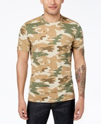 American Rag Men's Camo T Shirt Created For Macy's Sand Tan