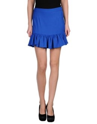 Beayukmui Mini Skirts Bright Blue
