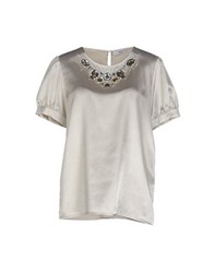 Blugirl Blumarine Shirts Blouses Women Light Grey