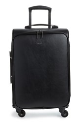 Matt And Nat Coast 20 Inch Faux Leather Spinner Carry On Black
