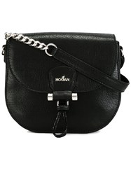 Hogan Logo Saddle Bag Black