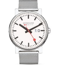 Mondaine A6273030311sbb Evo Big Size Stainless Steel Watch White