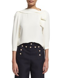 Marc Jacobs 3 4 Sleeve V'd Back Blouse White Size 6