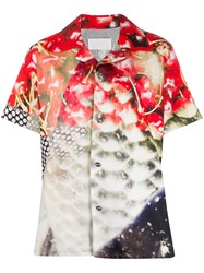 Maison Martin Margiela Graphic Print Bowling Shirt Red