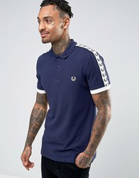 Fred Perry Sports Authentic Polo Shirt In Navy Carbon Blue