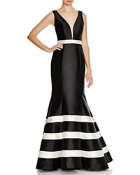 Mac Duggal Low Back Gown Black Cream