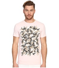 Marc Jacobs Summer Graphic Slim Jersey T Shirt Pale Pink Men's Short Sleeve Pullover