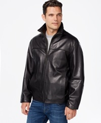 Boston Harbour High Neck Leather Bomber Jacket